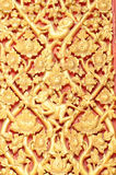 Native Thai style wood carving Royalty Free Stock Photos