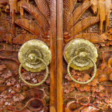 Native Thai style wood carving Stock Photo