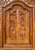 Native Thai style wood carving Royalty Free Stock Photography