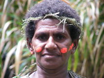Native Vanuatu woman Stock Photography