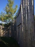 Native wall. Native Indian wall wood tall Royalty Free Stock Photography