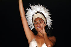Native woman on Easter Island Royalty Free Stock Photography