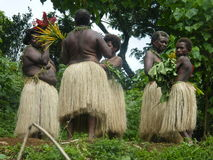 Native women in Vanuatu Stock Photo