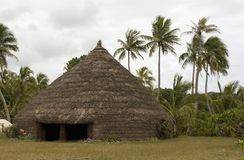 NativeHut. Native meeting hut made out of grass Stock Images