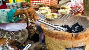 Natives food selling at street food Stock Photos