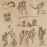Natives - Hand drawn vectors Stock Images