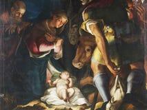 Natividad, adoración de los pastores Fotografía de archivo