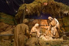 Natividad de Cristo en la catedral de Arequipa Imágenes de archivo libres de regalías