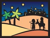 Natividad de la escena de la Navidad stock de ilustración