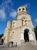 Natividad de Riga de la catedral ortodoxa de Cristo imágenes de archivo libres de regalías