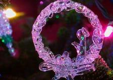 Natividad del ornamento y de las luces del día de fiesta imágenes de archivo libres de regalías