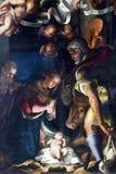 Natividade, adoração dos pastores Fotografia de Stock Royalty Free