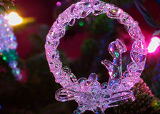 Natividade do ornamento e das luzes do feriado Imagens de Stock Royalty Free