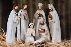 Natividade em um celeiro fotos de stock royalty free