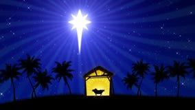 Natividade 02 (fundo animado) ilustração do vetor