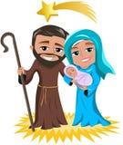 Natividade Jesus Birth do Natal Imagens de Stock