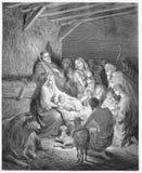 A natividade - nascimento de Jesus fotografia de stock
