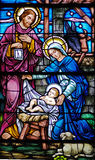 Natividade no vidro foto de stock royalty free