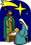 Natividade santamente da família/eps Imagens de Stock Royalty Free