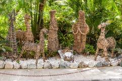 Natività del legno della statua fotografie stock libere da diritti