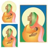 Natività scura della Mary royalty illustrazione gratis