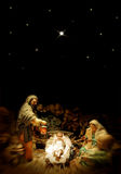 Nativité de Noël Photos stock