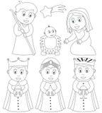 Nativité de Noël de coloration Photographie stock libre de droits