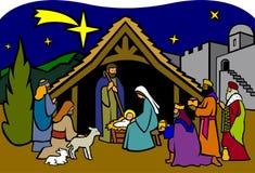 Nativité de Noël/ENV Photographie stock libre de droits