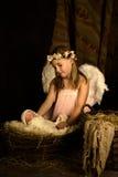 Nativité de Noël la nuit Image libre de droits