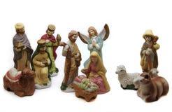Nativité de porcelaine Images libres de droits
