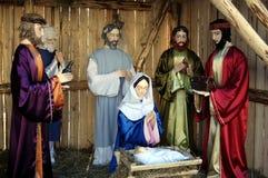 Nativité de scène de Jésus Photos stock