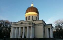 Nativité métropolitaine de cathédrale de Lord Christ à Chisinau photographie stock libre de droits