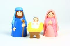 Natività del giocattolo Fotografie Stock Libere da Diritti