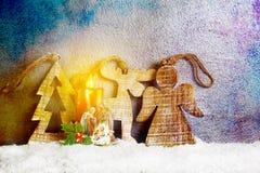 Nativity κάτω από το χιόνι Στοκ Εικόνα