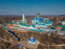 Nativity της κυρίας μας Monastery και καθεδρικός ναός εικονιδίου του Βλαντιμίρ της μητέρας του Θεού σε Zadonsk, περιοχή Lipetsk στοκ εικόνα με δικαίωμα ελεύθερης χρήσης