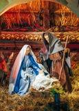 Nativity της όμορφης σκηνής του Ιησού Στοκ εικόνα με δικαίωμα ελεύθερης χρήσης