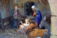 Nativity. Statues also called Presepio in Italy Stock Image