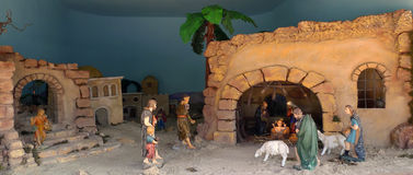 Nativity. Statues also called Presepio in Italy Stock Photography
