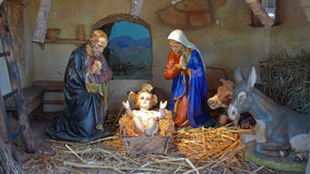 Nativity. Statues also called Presepio in Italy Royalty Free Stock Images