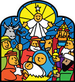 Nativity. Vector Illustration of nativity scene Royalty Free Stock Photography
