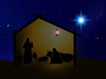 Nativity 2. Virgin Mary , Joseph  and Jesús in Belem Stock Photography