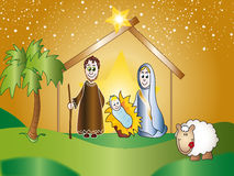 Nativity. Scene with Jesus, Mary and Joseph Royalty Free Stock Image