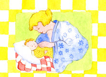 Nativity. With mother and child Stock Image
