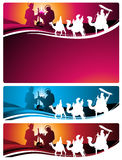 Nativity banners and letter Stock Photos