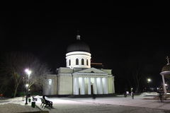 Nativity Cathedral in Kishinev or Chișinău at night.  Moldova Stock Images
