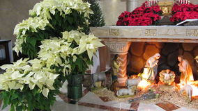 Nativity at the Catholic Church stock video