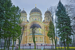 Nativity of Christ Cathedral or Russian Orthodox Cathedral in Ri Stock Photography