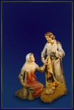 Nativity christmas card Stock Images