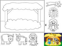Free Nativity Color Cut And Paste Stock Photos - 16618473