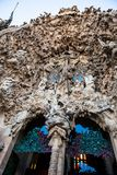 Nativity Facade of the Basilica and Expiatory Church of the Holy Family. In Barcelona royalty free stock images